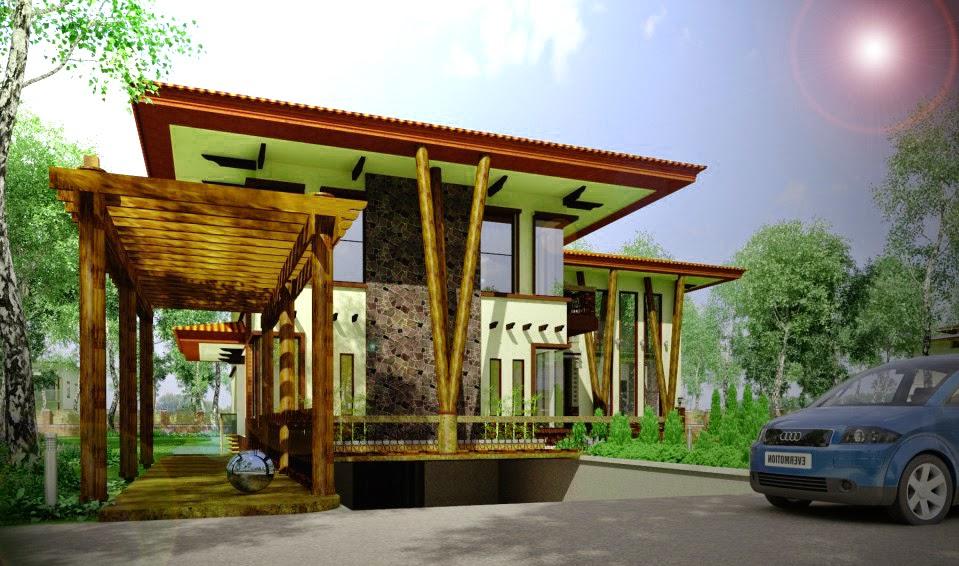 model rumah kayu minimalis karya Marte Designs