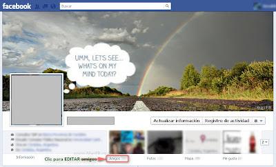 Editar amigos FB Biografia
