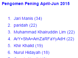 Pengomen Pening April-Jun 2015