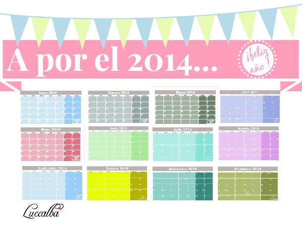 calendario 2014 mes por página