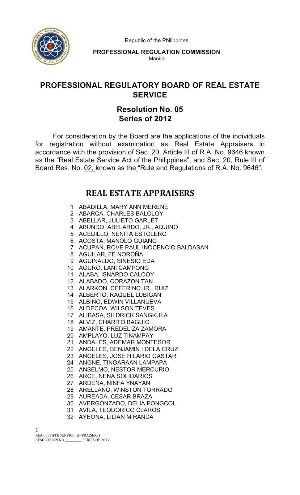 philippine real estate laws pdf