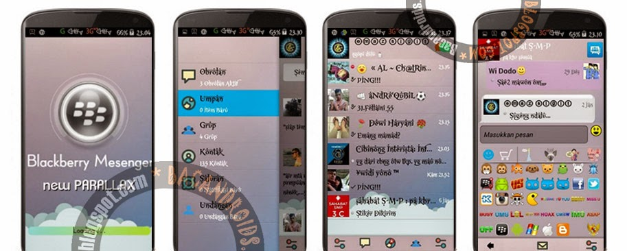 Download Mod BBM Tema Parallax New Apk V2.6.0.30