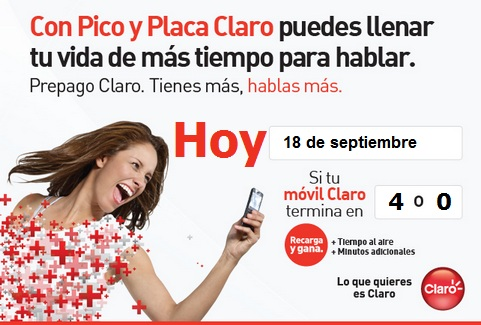 placa claro colombia hoy martes 18 septiembre 2012 hoy es dia pico y