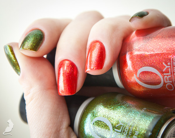 Orly: Emberstone из Mineral FX и It's not a Rocket Science из Cosmic FX.