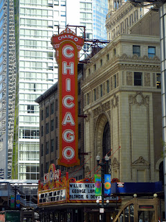 Chicago Theater sign in downtown Chicago, Illinois