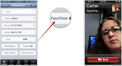 make a FaceTime call from iPhone 2