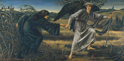 Sir Edward Coley Burne-Jones -  love and the pilgrim 1896-7