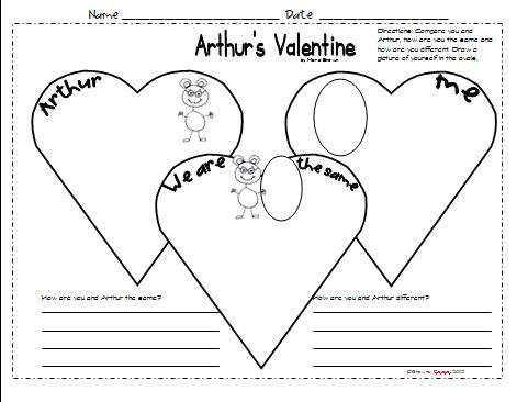 A Compare U0026 Contrast Worksheet {comparing Yourself And Arthur}