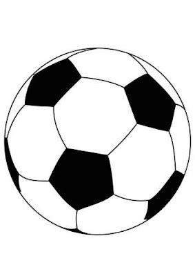 Desenhos de bolas de futebol, basquet e voleibol para colorir