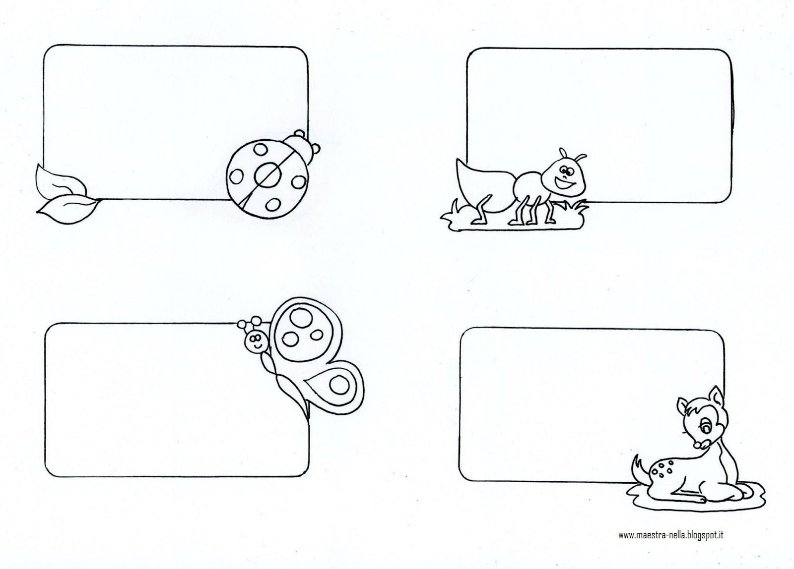 Maestra nella segnaposto o etichette - Libri da colorare gratuiti da stampare ...