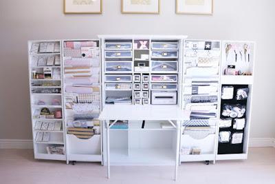 Delightful Craft Storage Hide Away | Teresa Collins New Craft Area