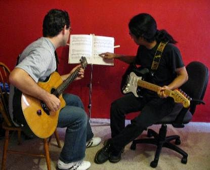 guitar lesson, les privat, les privat gitar,