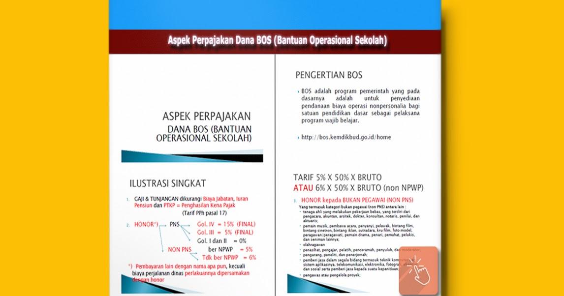Download Aspek Perpajakan Dana Bos Bantuan Operasional