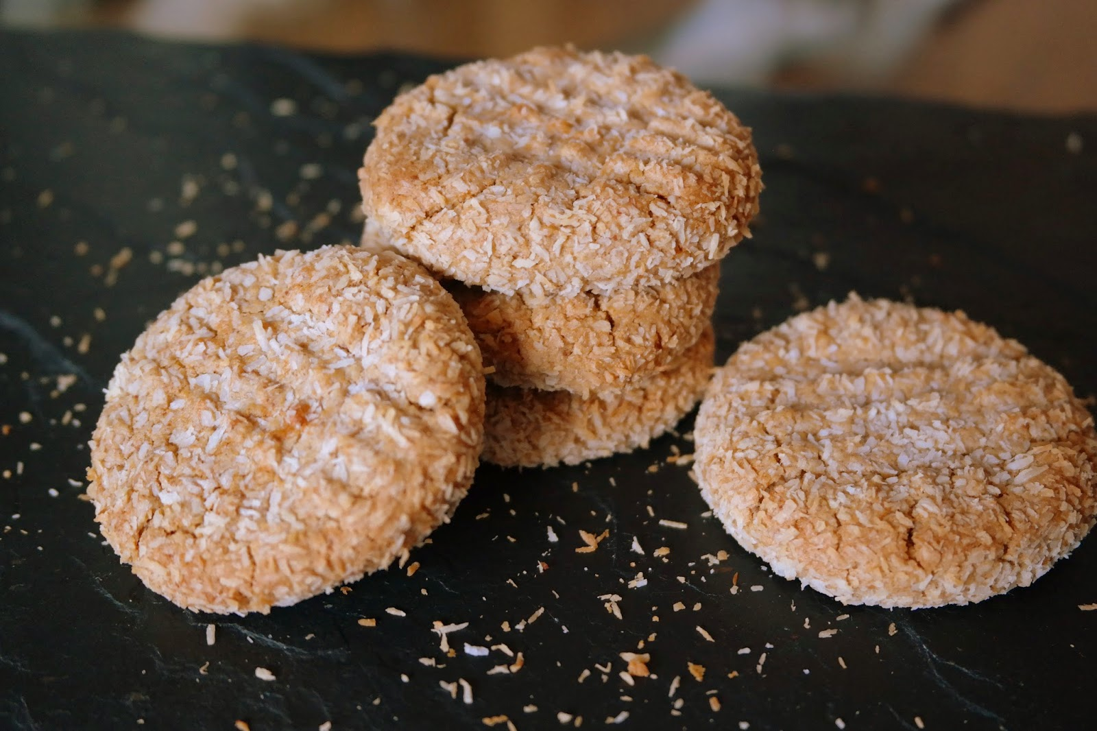 Baking Bar: Guilt Free Peanut Butter Coconut Cookies
