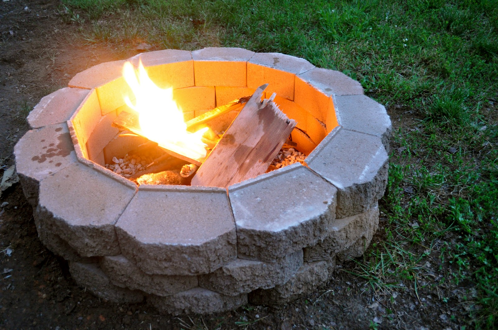 it really is a nice addition to our backyard and this fire pit was