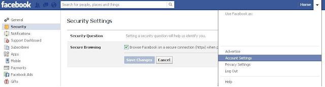 فيسبوك التصفح الآمن Secure Browsing
