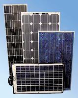 paneles solares fotovoltaicos de distintos tamaños