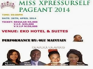Miss XpressUrself Pageant Tickets & Booking