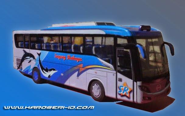 Miniatur bus Discovery isometrik