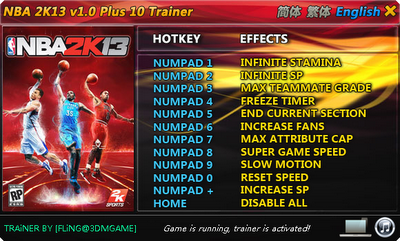NBA 2K13 Trainer Hack & Cheats
