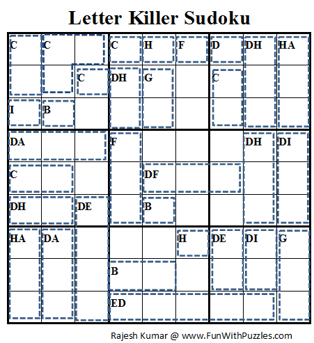 Letter Killer Sudoku (Daily Sudoku League #70)
