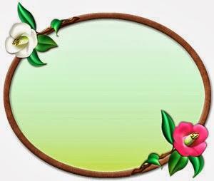冬の花イラスト無料|椿のプレート状イラスト