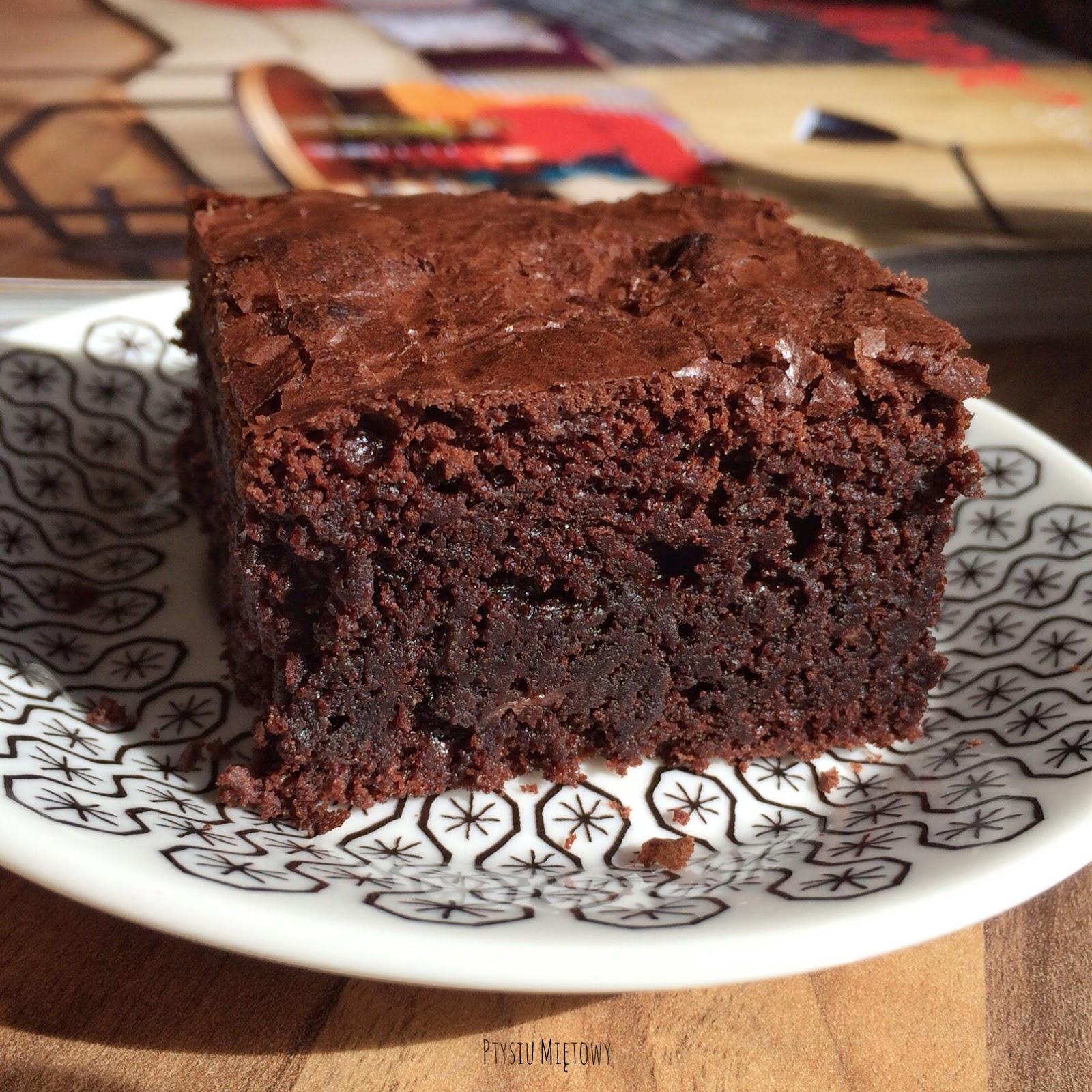 brownie, ptysiu mietowy