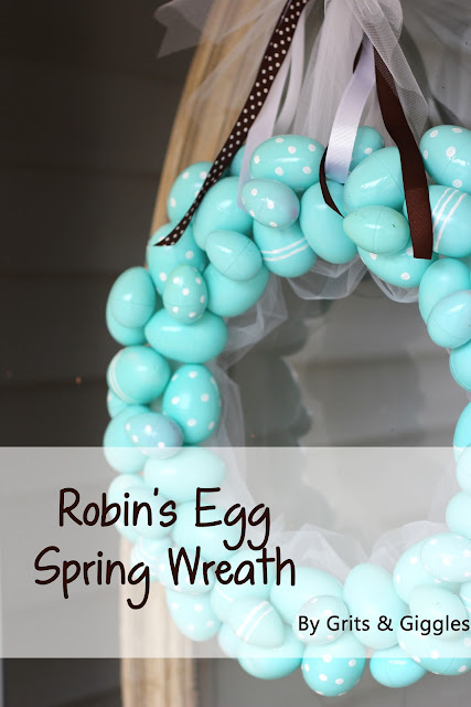 Robin's Egg Spring Wreath Tutorial by Grits & Giggles