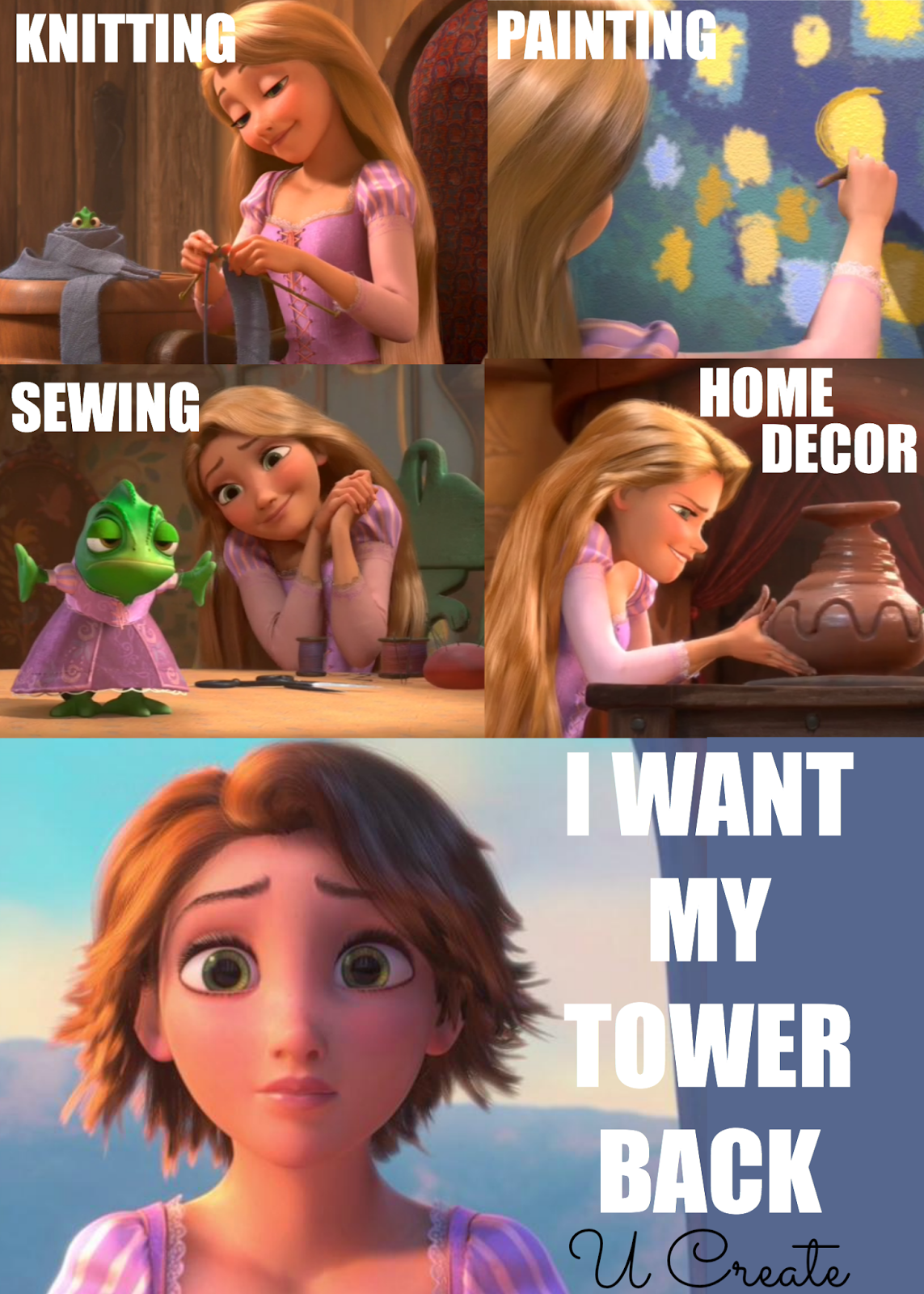 The ultimate DIY princess - lots of funny craft memes by U Create