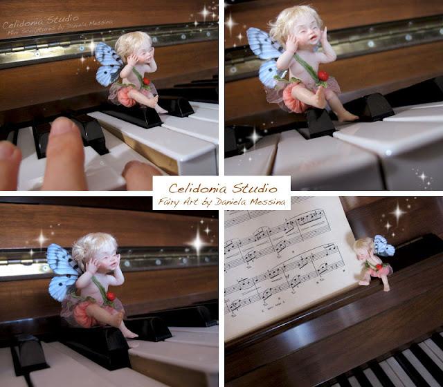 Baby Fatina OOAK sul Pianoforte di Celidonia