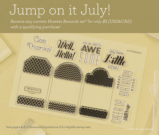 July CTMH Special Hostess Rewards Stamp Set