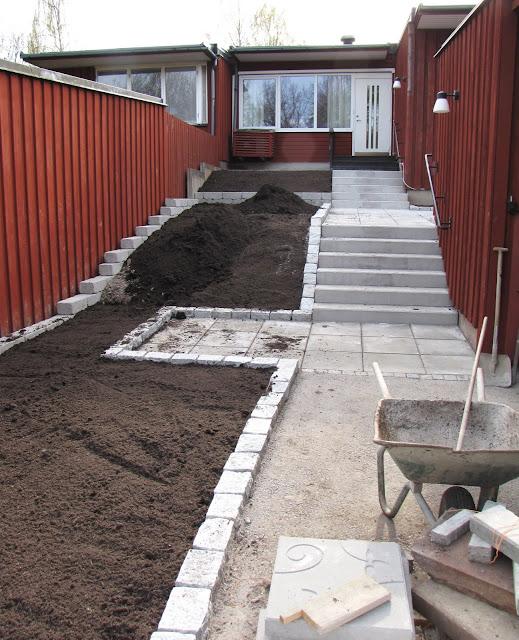modern trägårdsdesign cement