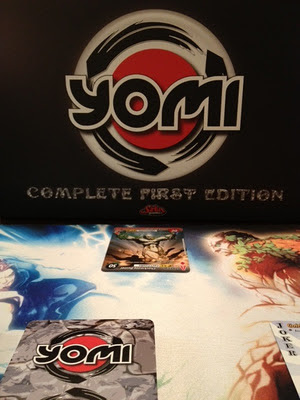 Yomi card game in play