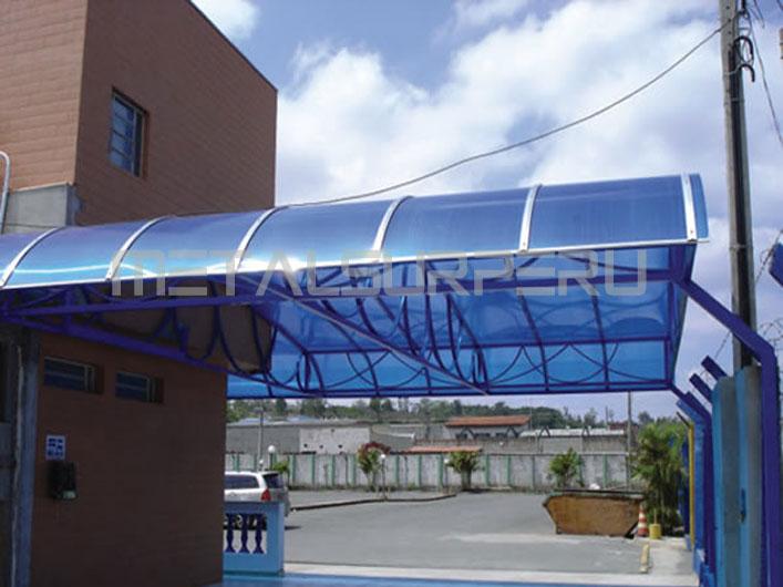 Techos para terrazas coberturas met licos arequipa - Estructuras para terrazas ...