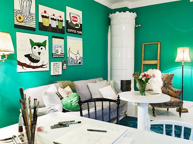 Decoracao De Sala Verde ~ decoracao de sala verdeNão gosta dos verdes mais escuros? Este aqui
