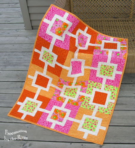 Garden Fence quilt in sherbert colors at Freemotion by the River