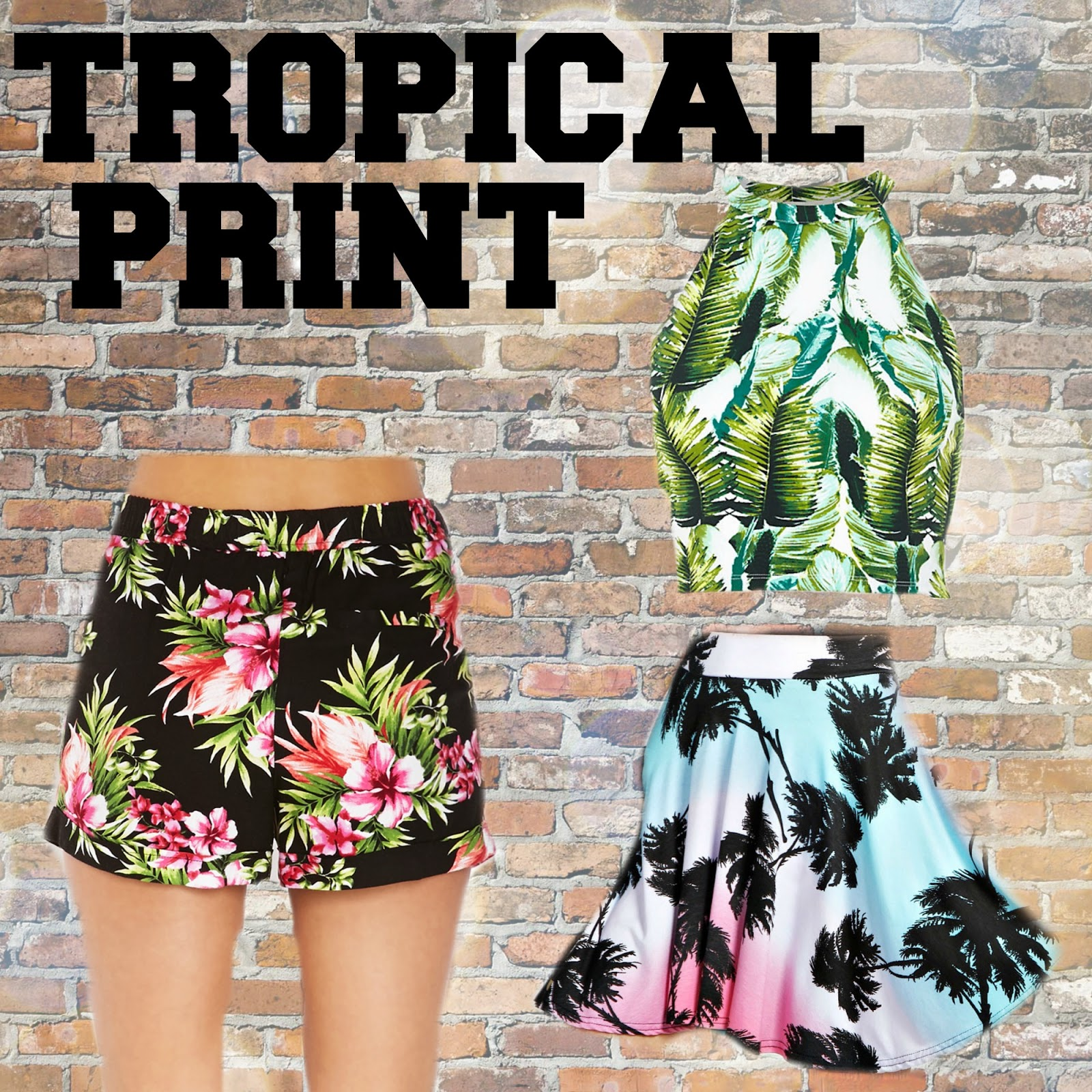 SS14 essentials tropical print boohoo.com forever21 river island