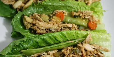 recetas online tacos de lechuga y pollo