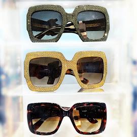 Gucci Oversize square-frame rhinestone sunglasses