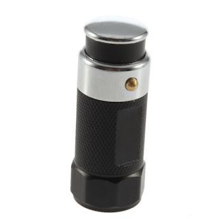 Stainless LED Car Cigarette Lighter Rechargable battery Flashlight Torch G9