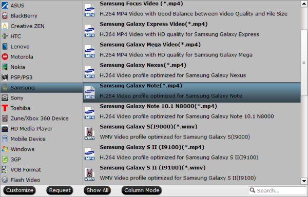 Galaxy Note Pro 12.2 best video format