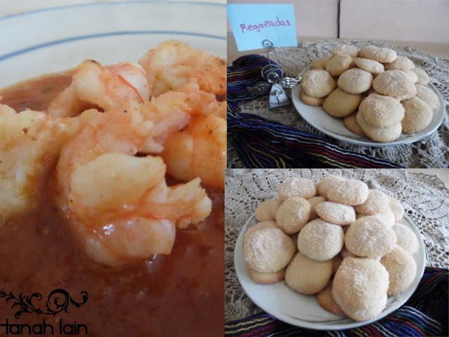 Receta de Camarones en Salsa de Tamarindo y como postre Regañadas