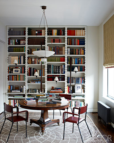 traditional elle decor dining room bookcase design