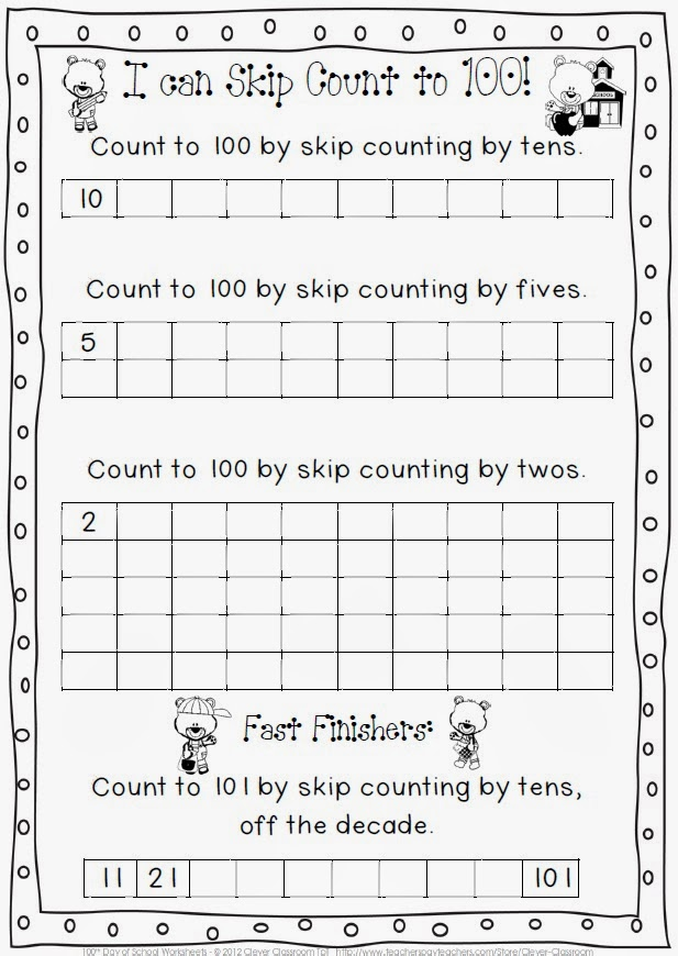 February Printables COMBO 100th Day of School and Valentine's Day