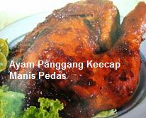 Resep Masakan Ayam Bakar Kecap Pedas Manis Spesial