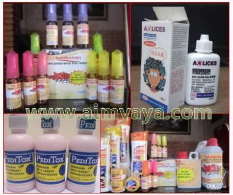 Gambar: Beberapa obat pembasmi kutu rambut