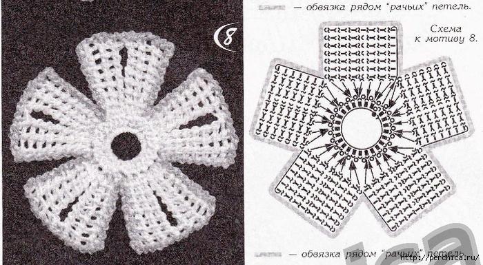 Тунисское вязание крючком цветы со схемами мк 78