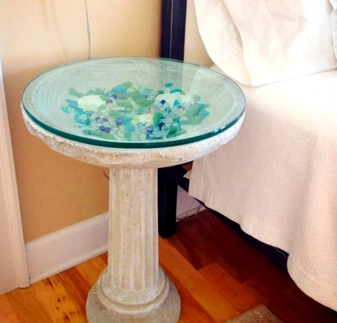 bird bath table