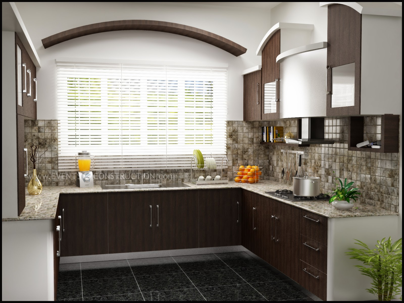 Evens Construction Pvt Ltd Simple Kerala Kitchen Interior Designs
