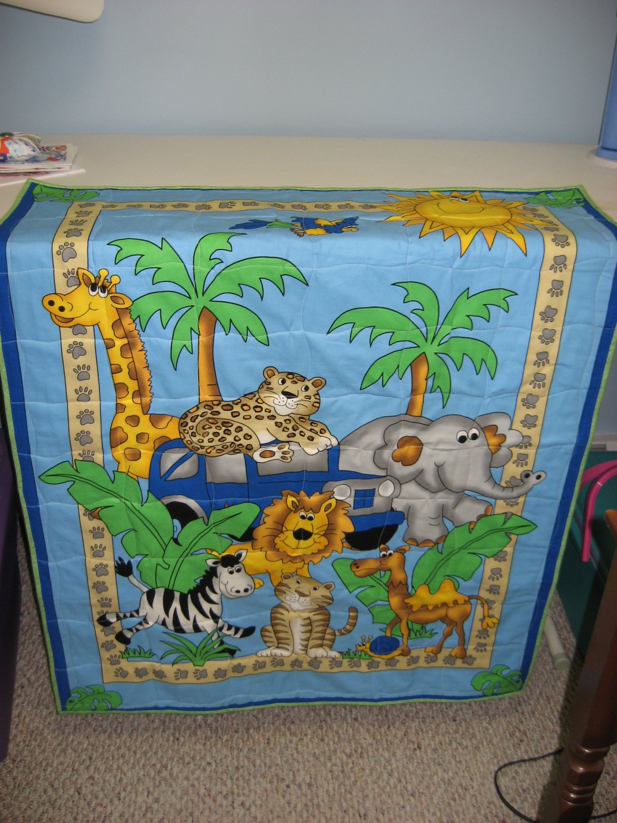 Hooked On Needles Jungle Animal Baby Quilt Quick And Easy Gift
